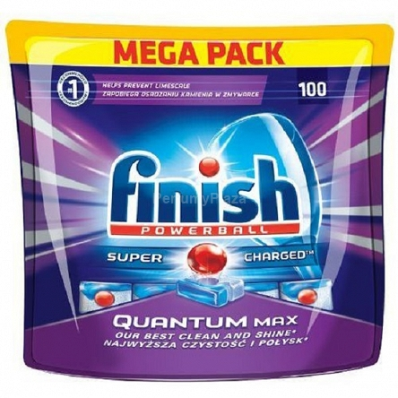 Finish Powerball Super Charged Quantum Max kapsulki do mycia naczyn w zmywarkach 100szt