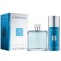 Azzaro Chrome woda toaletowa spray 100 ml + dezodorant spray 150 ml TRAVEL