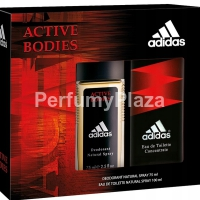 Adidas Active Bodies Concentrate woda toaletowa spray 100 ml + dezodorant spray 75 ml