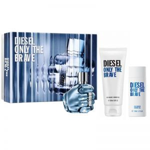 Diesel Only The Brave woda toaletowa spray 75 ml + żel pod prysznic 100 ml + żel pod prysznic 50 ml